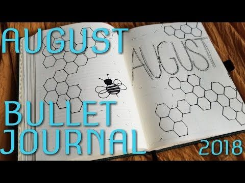 My August bullet journal. Its Bumblebee and Honeycomb themed! #augustbulletjournal