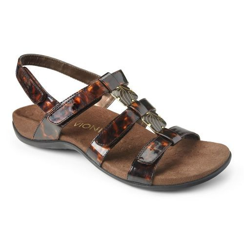 e47a39f22440 Vionic Amber - Women s Adjustable Slide Sandal - Orthaheel - Black Crocodile  - 1 main view