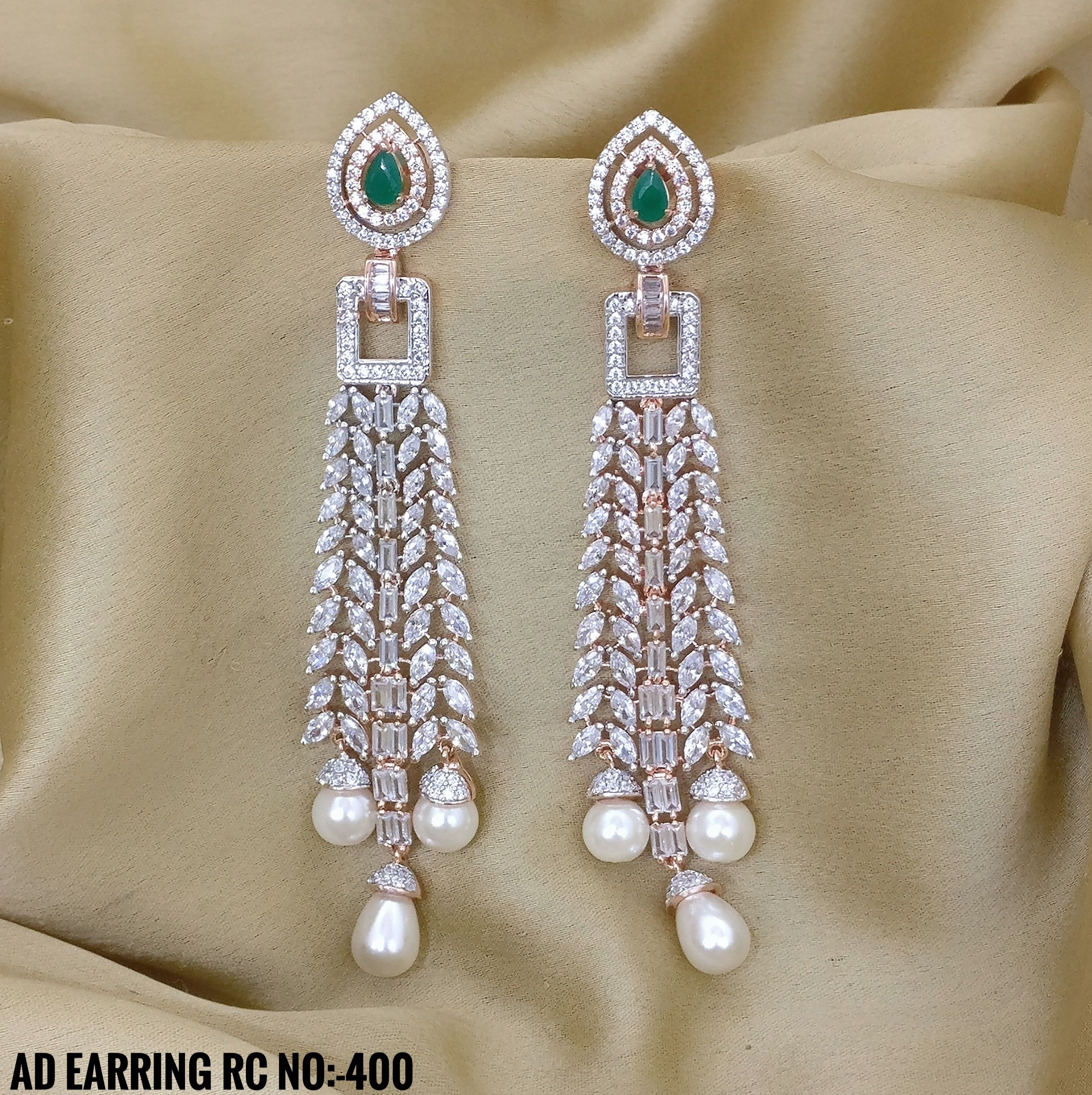 American Diamond Earrings Premium Collection Party Wear Earrings Rama Creations Manufacturer Wholesalers Of Artifi American Diamond Jewelry Fashion Jewelry