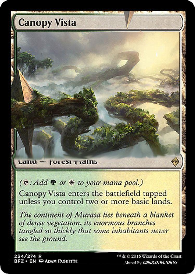 Magic the Gathering - Canopy Vista - Battle for Zendikar  sc 1 st  Pinterest & Canopy Vista - MTG- Altered | Altered / Proxy MTG cards ...