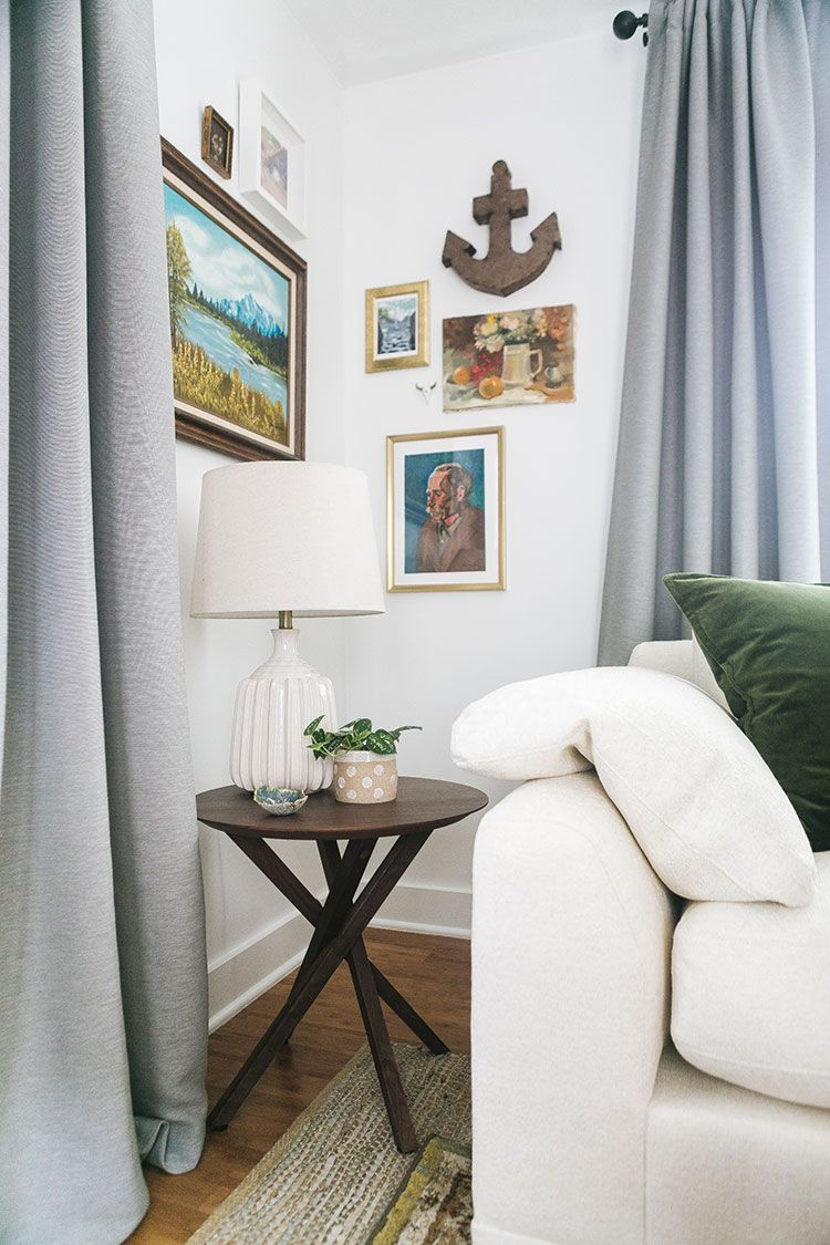 Our Living Room Makeover w/ Crate and Barrel + Small Space ...