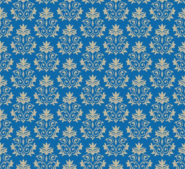 Telas diseñadores EEUU - damasco gustaviano azul - hecho a mano por La-Retalera en DaWanda
