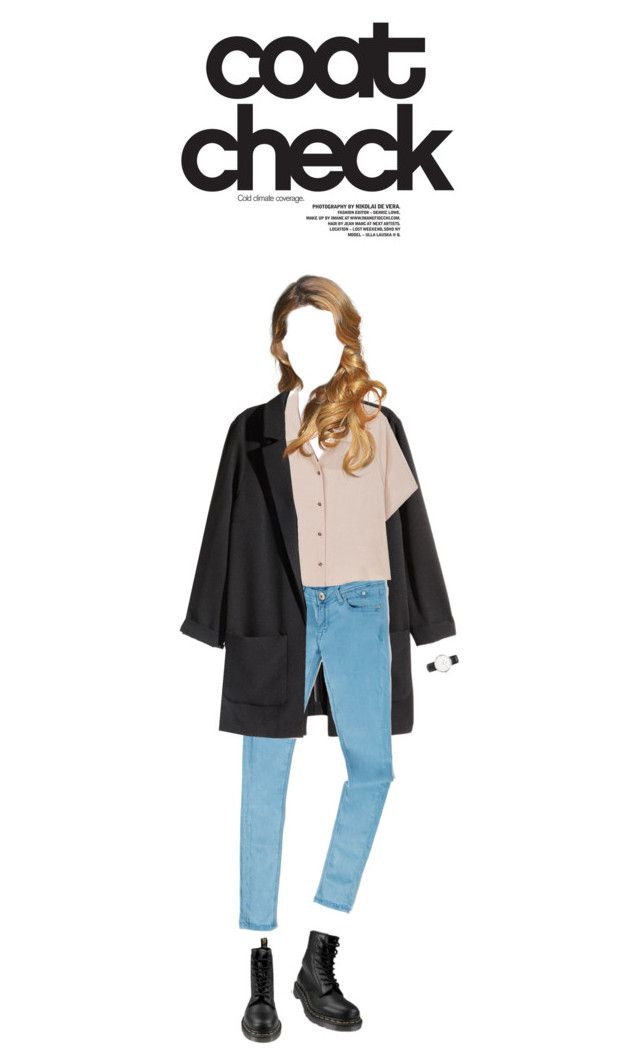 """""""[ Coat Check ]"""" by demigeorgia ❤ liked on Polyvore featuring H&M, Tommy Hilfiger, Rachel Comey, Dr. Martens and Daniel Wellington"""
