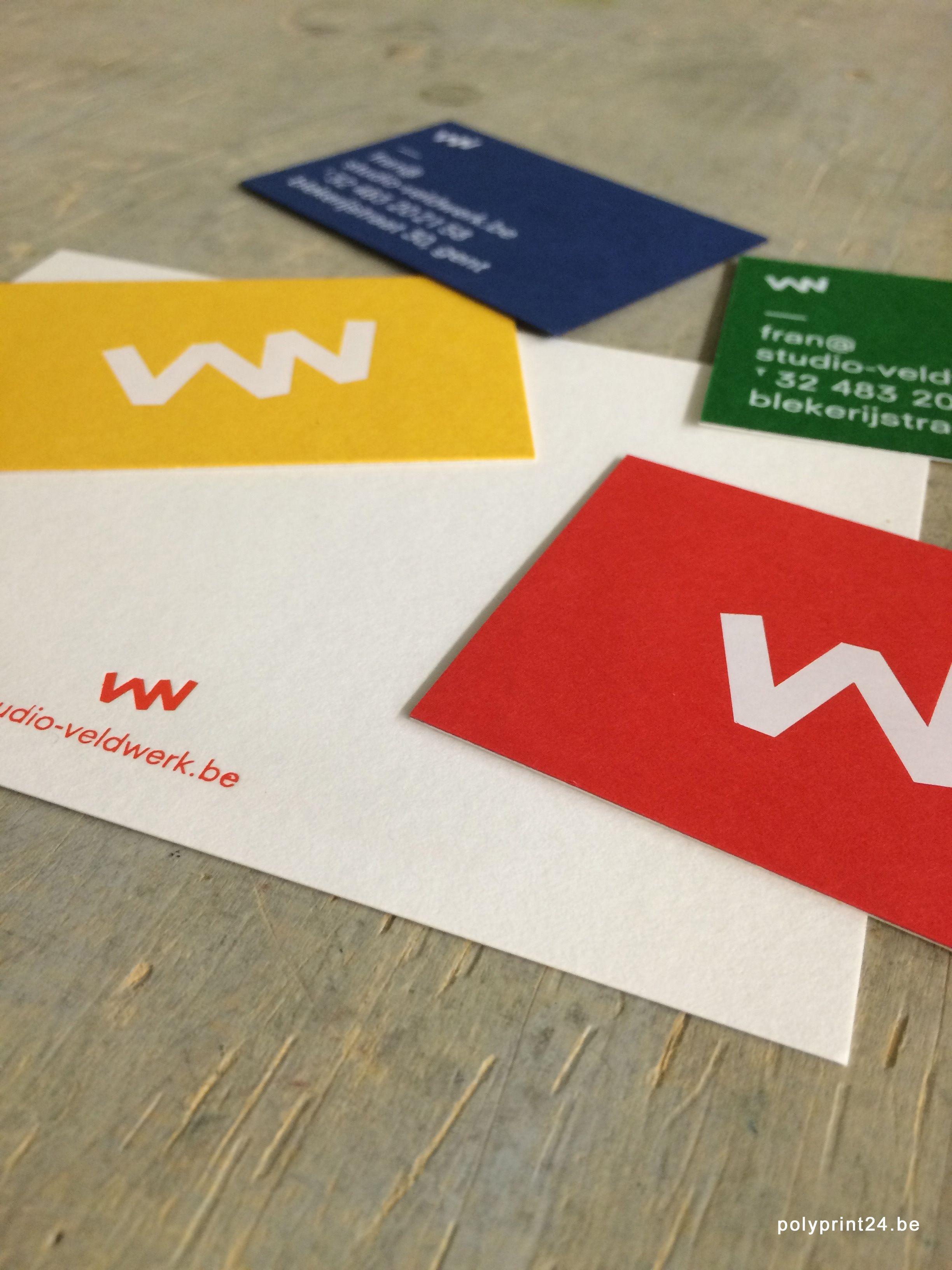 colorful business cards hot foil letterpress on custom made