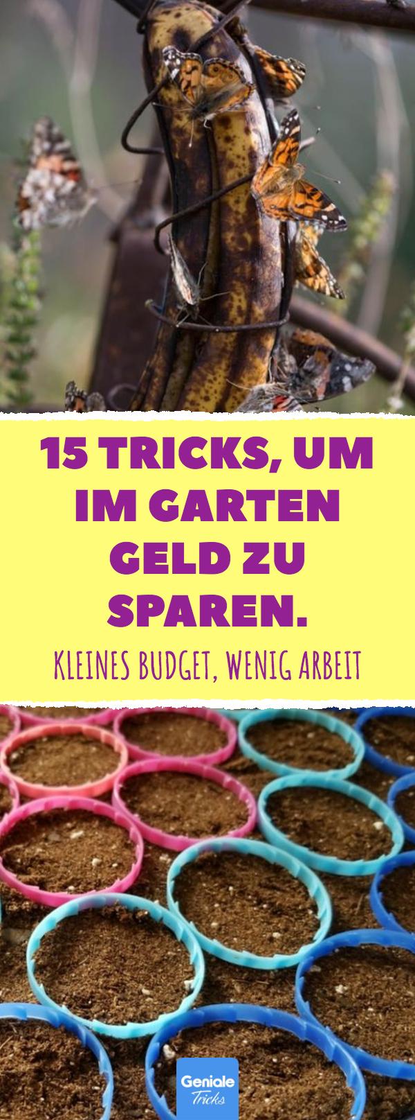 15 Tricks, um im Garten Geld zu sparen