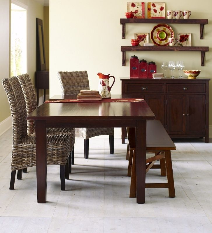 Pier 1 Torrance Dining Collection With Kubu Hand Woven Chairs