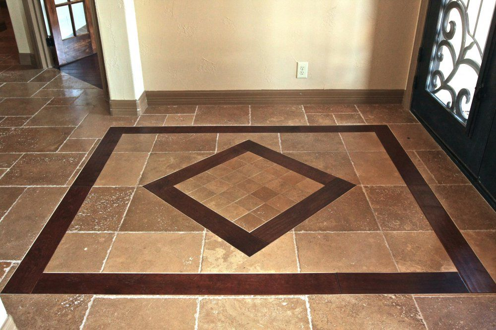 Tile patterns for entryways entryway tile tile entry for Entrance foyer tiles
