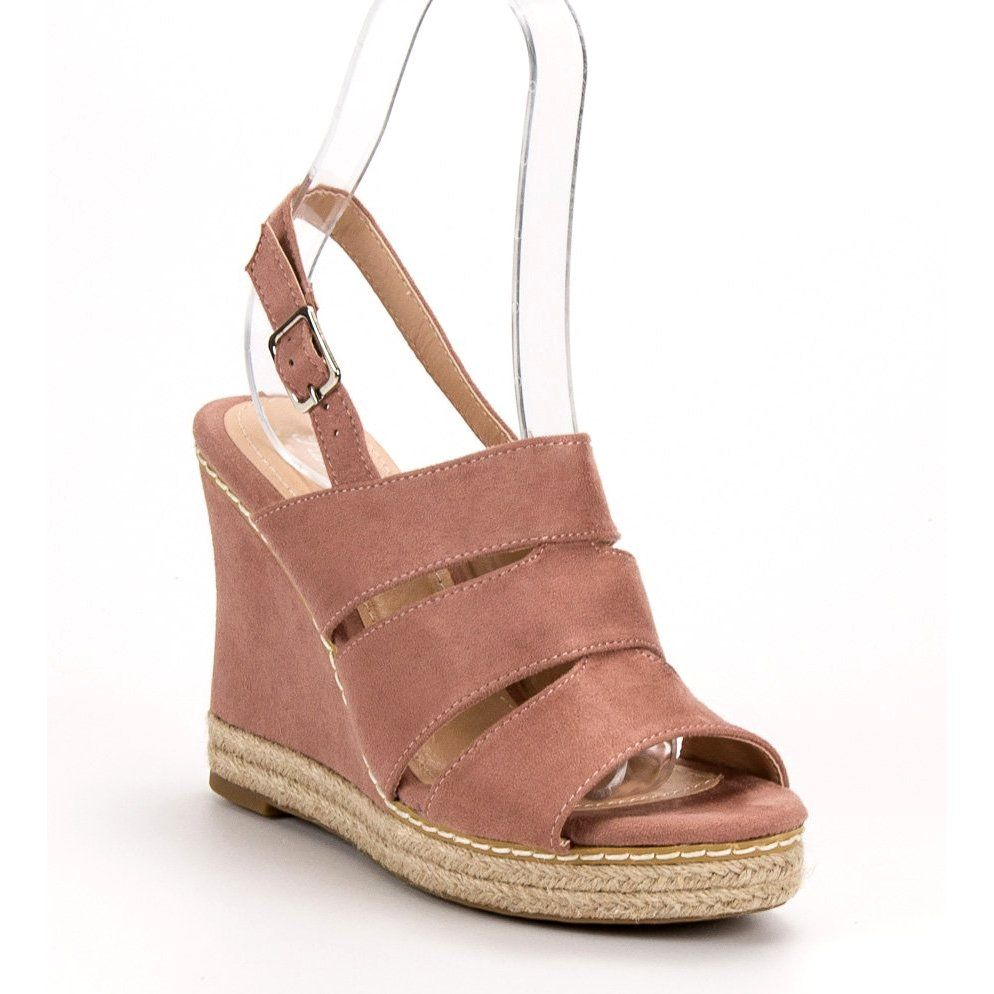 Sandaly Damskie Primavera Primavera Rozowe Pudrowe Sandaly Women Shoes Plastic Heels Sandals