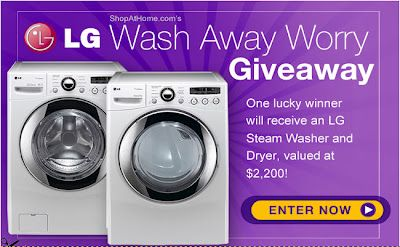 Wash Away Worry & Enter the $2,200 LG Washer and Dryer Giveaway