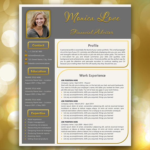 CV Template Resume Template Creative resume Resume Template Word