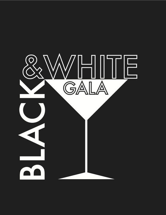 Black and white gala poster