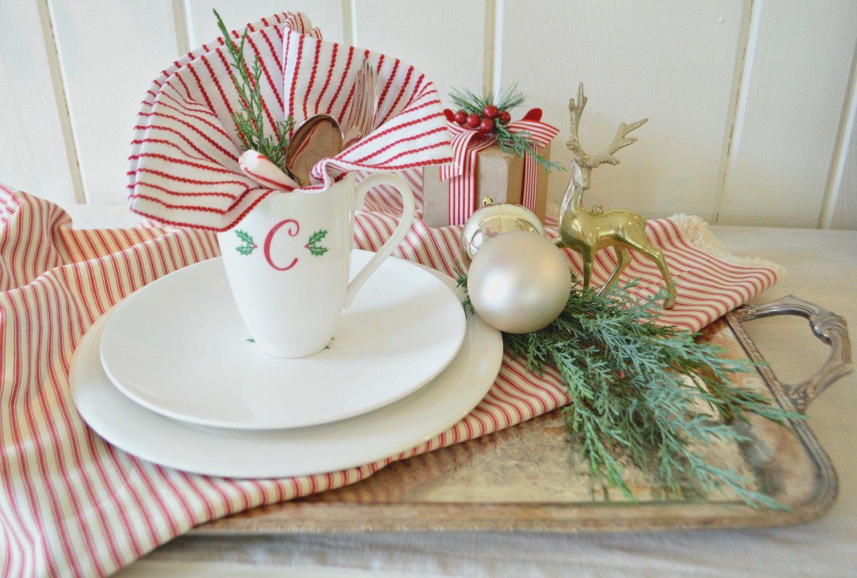 Thanksgiving Farmhouse Breakfast Tablescape Christmas Dinnerware Christmas Mugs Country Christmas