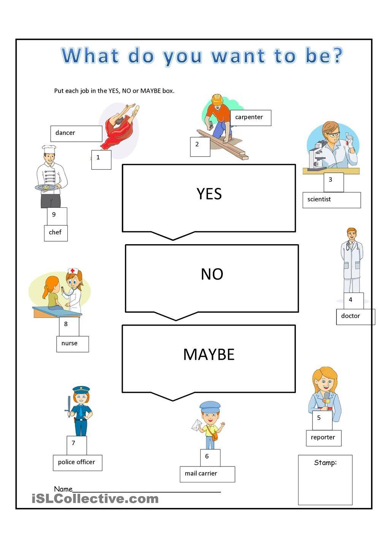 What Do You Want To Be Teacher Worksheets Preschool Activities Job [ 1440 x 1018 Pixel ]