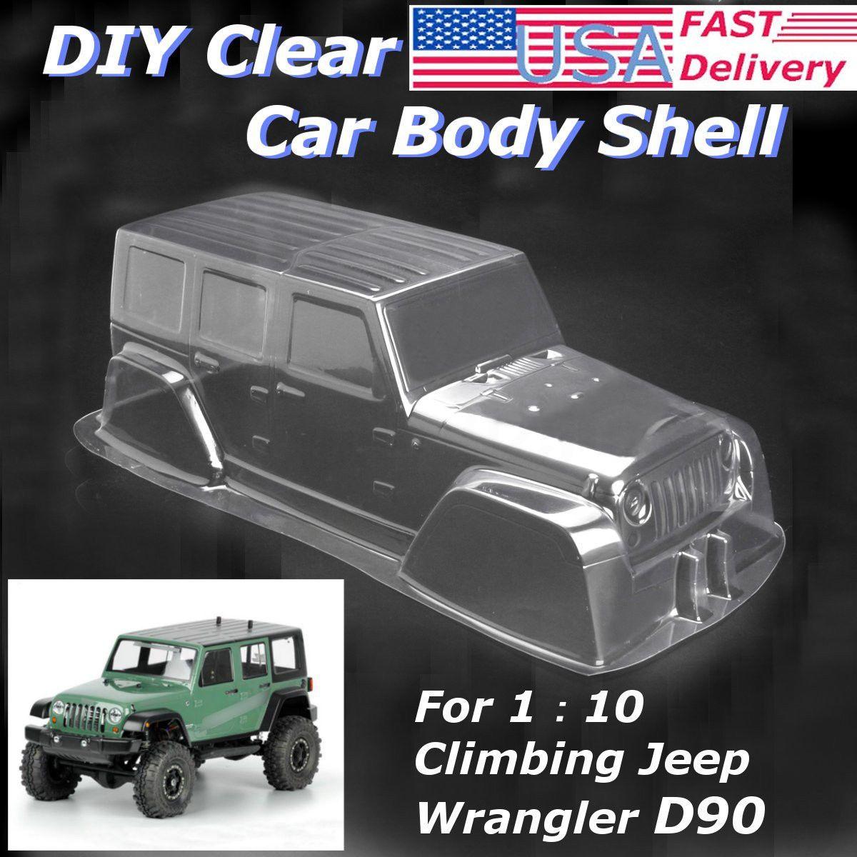 Axial RC Scale Truck Body Shell 1//10 JEEP WRANGLER RUBICON Hard Body w// INTERIOR
