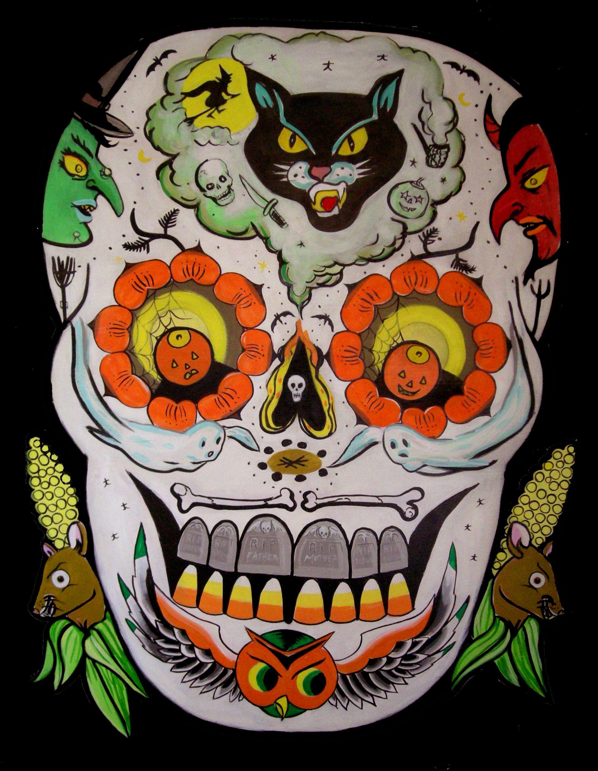 Modern Halloween/Day of the Dead Skull Halloween skull