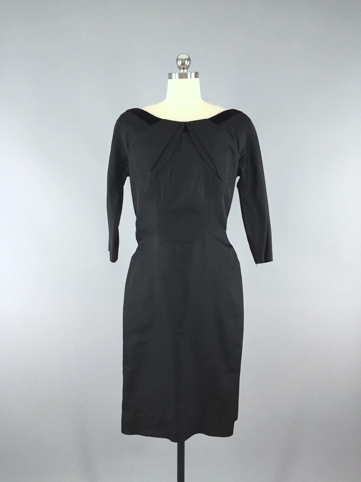 Vintage s black taffeta new look dress products