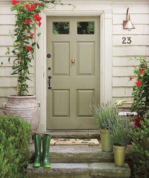 Sage Green Door Love It Doors In 2019 Cottage Front
