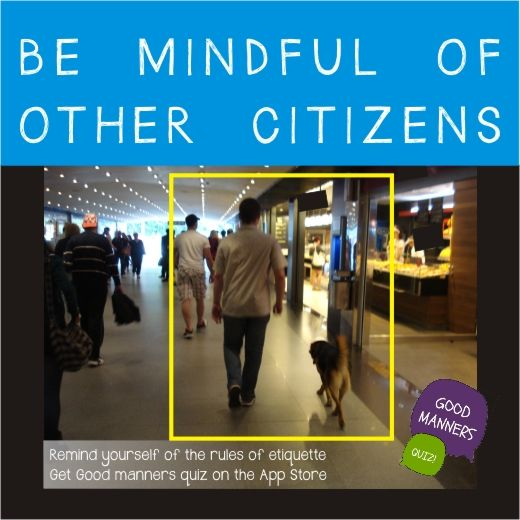 be mindful of other citizens ;) Good manners