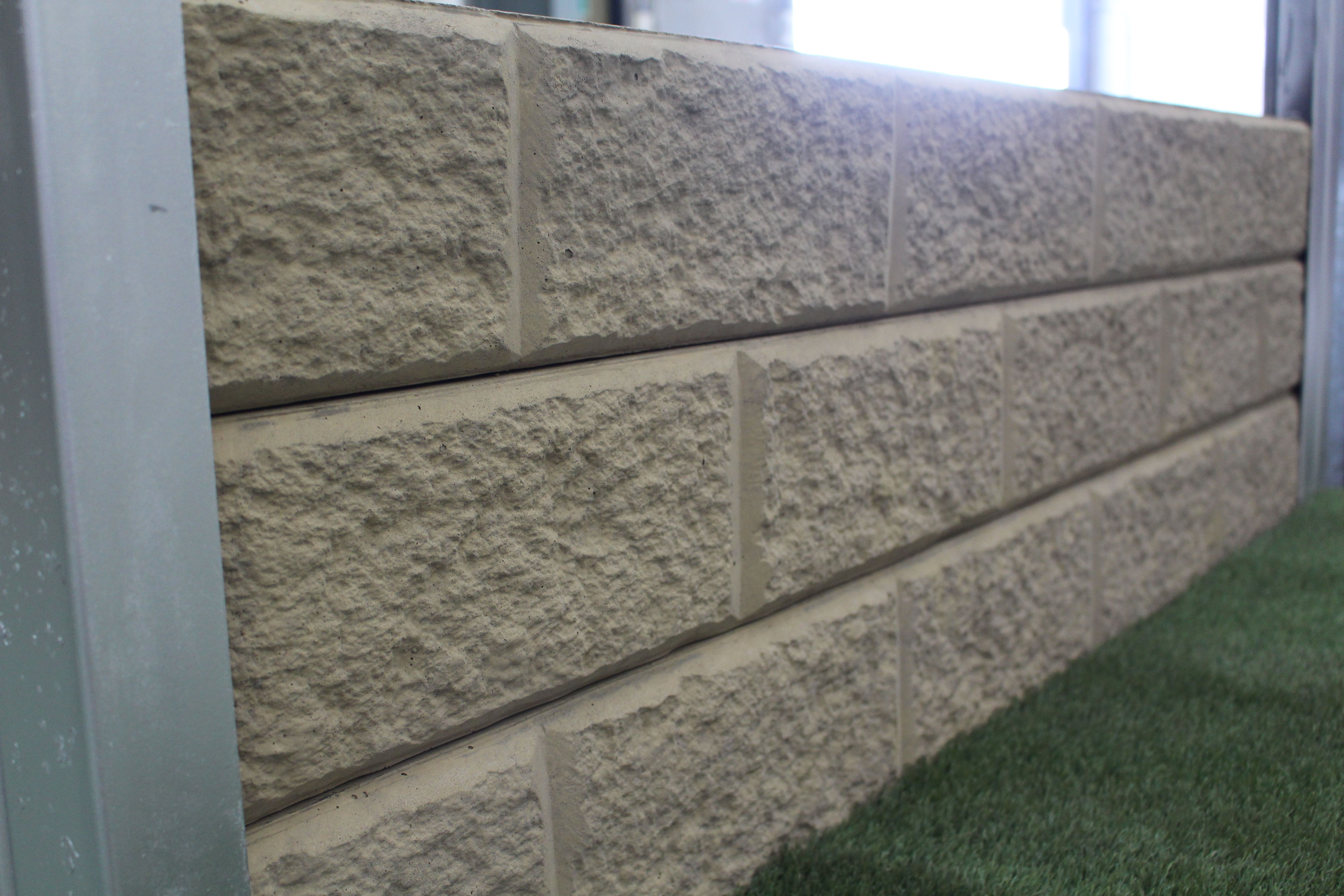 Ridgi Sandstone Effect Sample Concrete Sleeper Retaining Wall By Aussie Concrete Products Concrete Sleeper Retaining Walls Concrete Sleepers Building Hardware