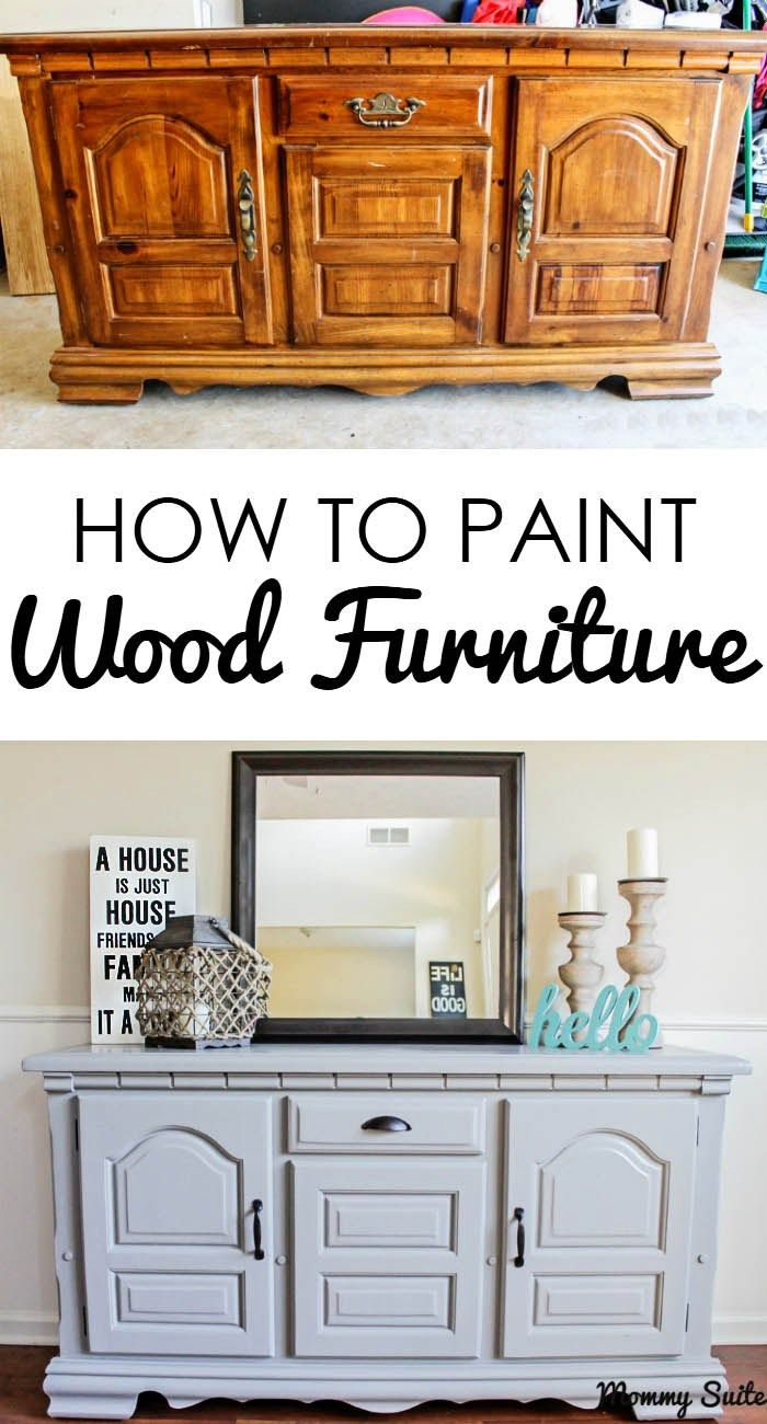 This Tutorial Gives Great Step By Directions On How To Paint Furniture