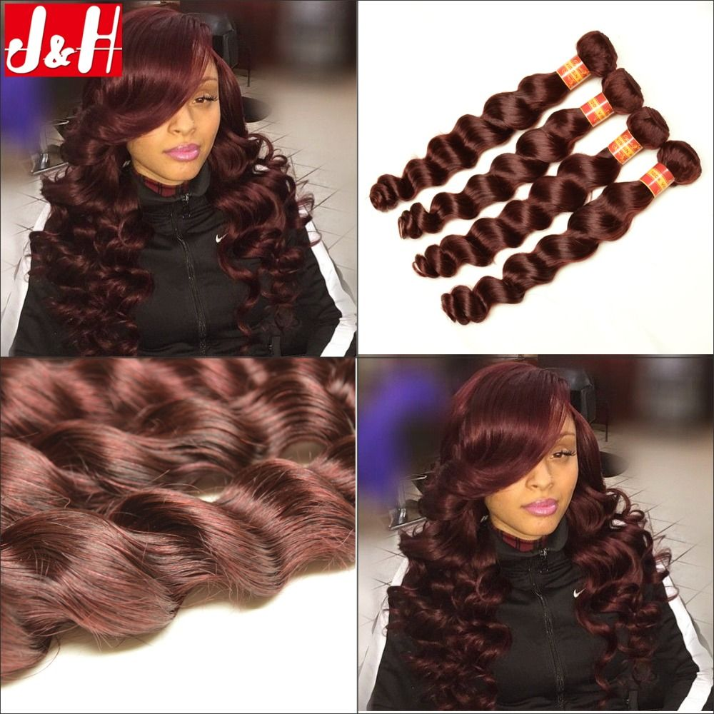 4pcslot brazilian 99j hair weave loose wave burgundy human hair cheap hair weaves buy directly from china brazilian hair weave loose wave burgundy human hair extensions good quality red color hair bundles cheap hair pmusecretfo Image collections