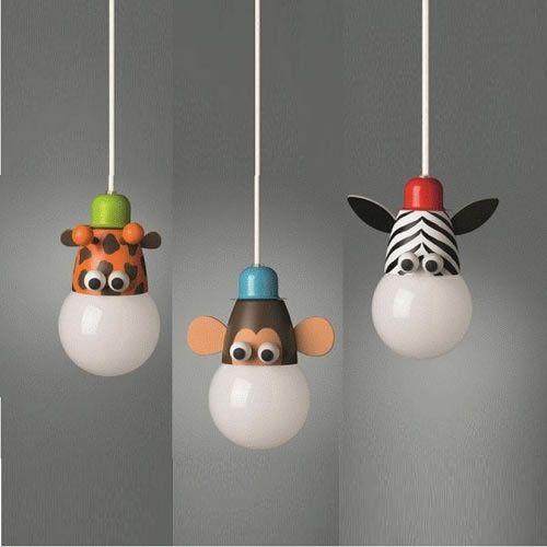 Children\'s Animals Zoo Themed Ceiling Light Ideal For Kids ...