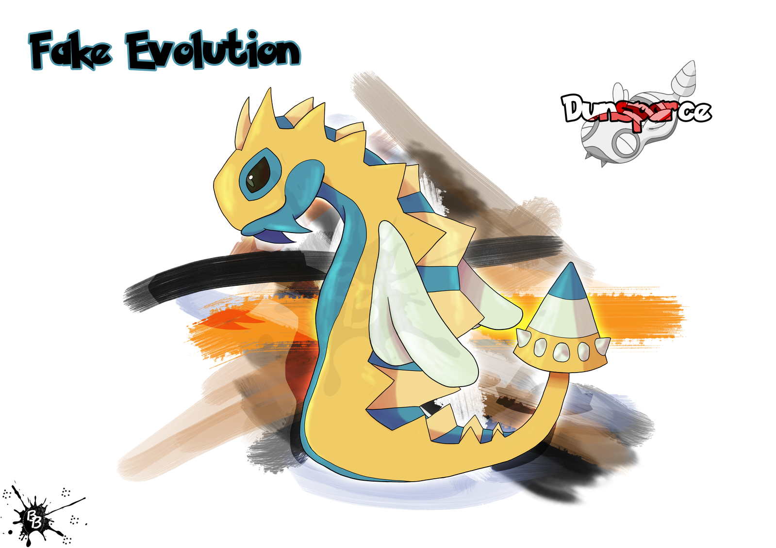 Fake Evolution - Dunsparce by Beatrice-Bartollini | New pokemon, Pokemon,  Flying pokémon