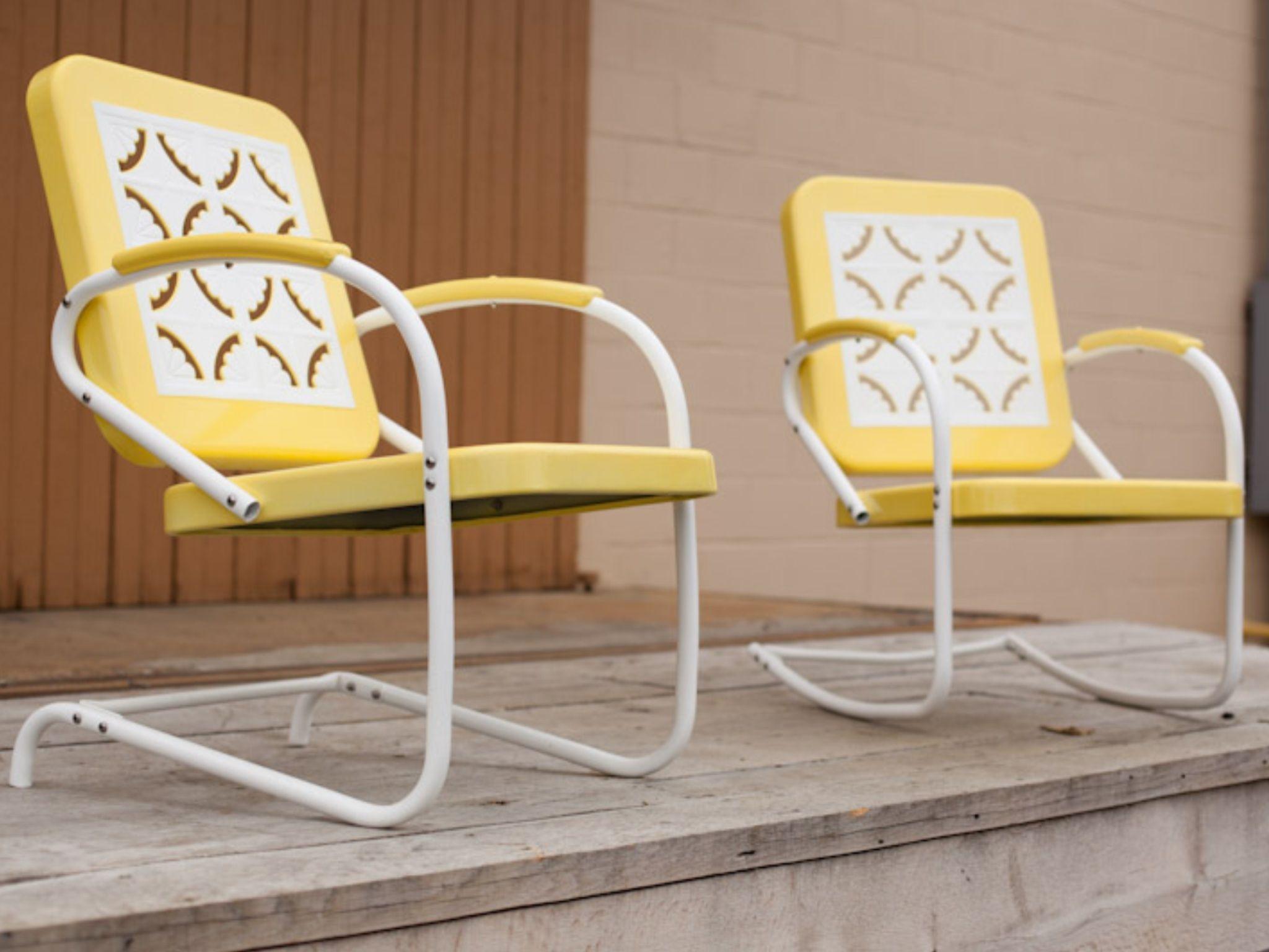 Chairs Vintage Gliders & Metal