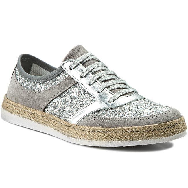 Espadryle Tamaris 1 23670 36 Silv Glm Comb 975 Tamaris Comb Shoes