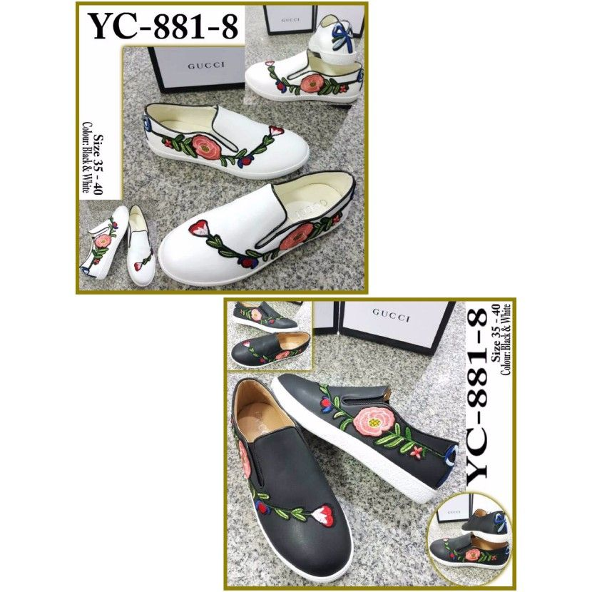 Sepatu Gucci Slip On Yc 881 8 35 40 355rb Sepatu