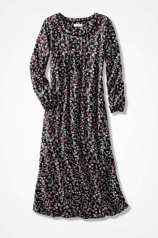 Redbirds Print Flannel Nightgown, Black Multi. I want this for Christmas.