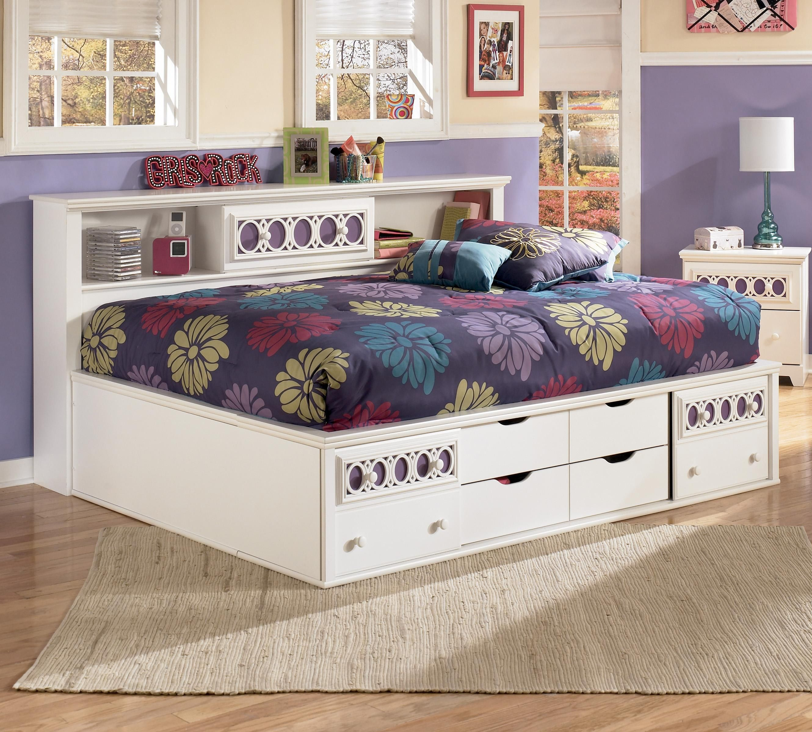 - Zayley Full Bedside Bookcase Daybed By Signature Design By Ashley