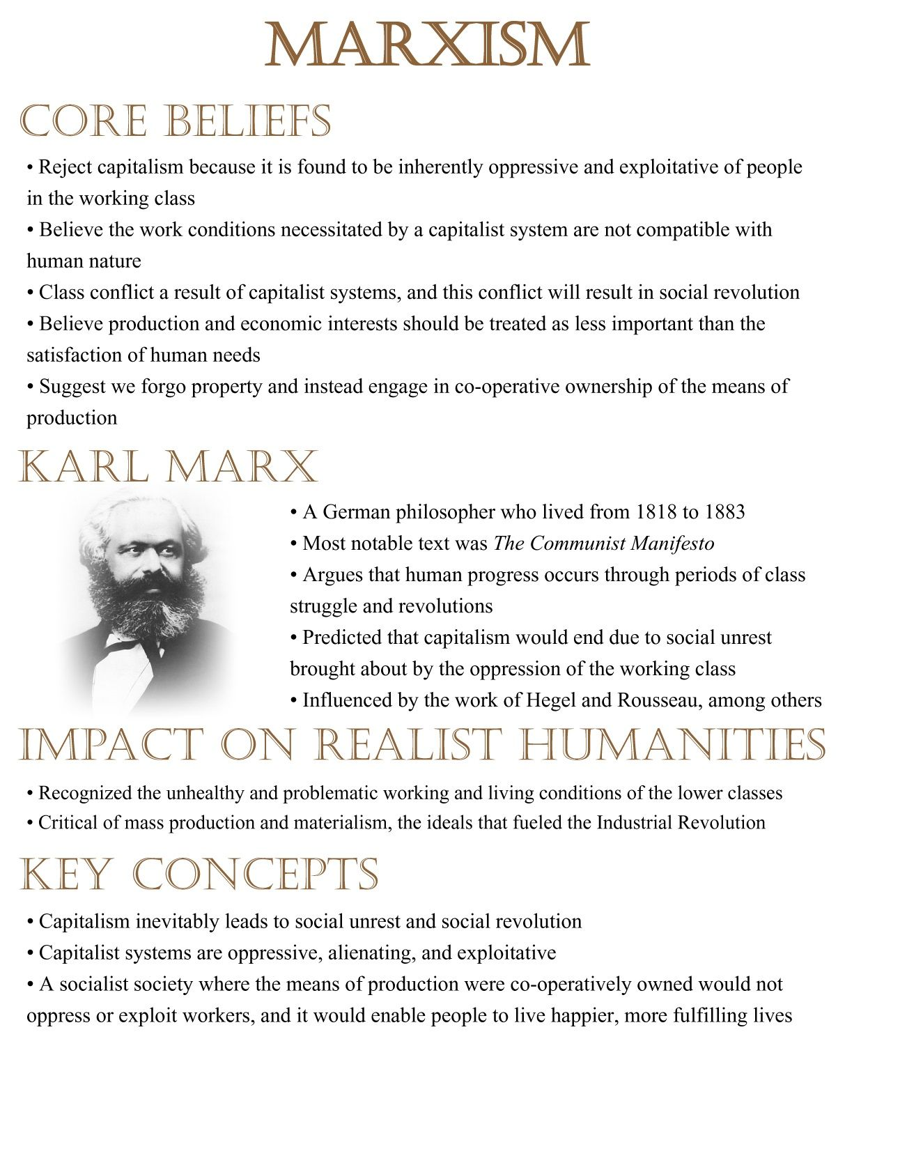Citaten Karl Marx : Marxism is the concepts thought by karl marx