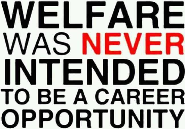 Welfare is not a career!!!!