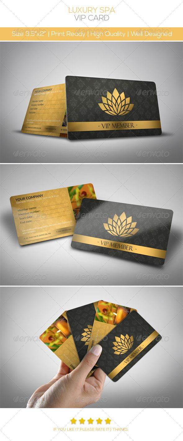 Luxury Spa Vip Card Loyalty Cards Cards Invites Https Graphicriver Net Item Luxury Spa Vip Card 3824902 Ref Vip Card Loyalty Card Design Vip Card Design