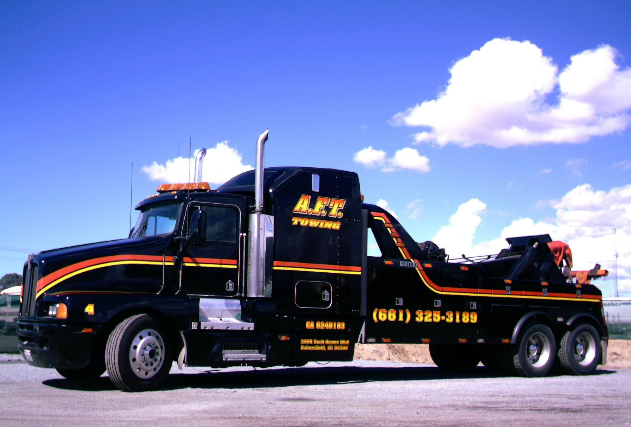 A f t towing inc big rig and heavy duty towing bakersfield ca