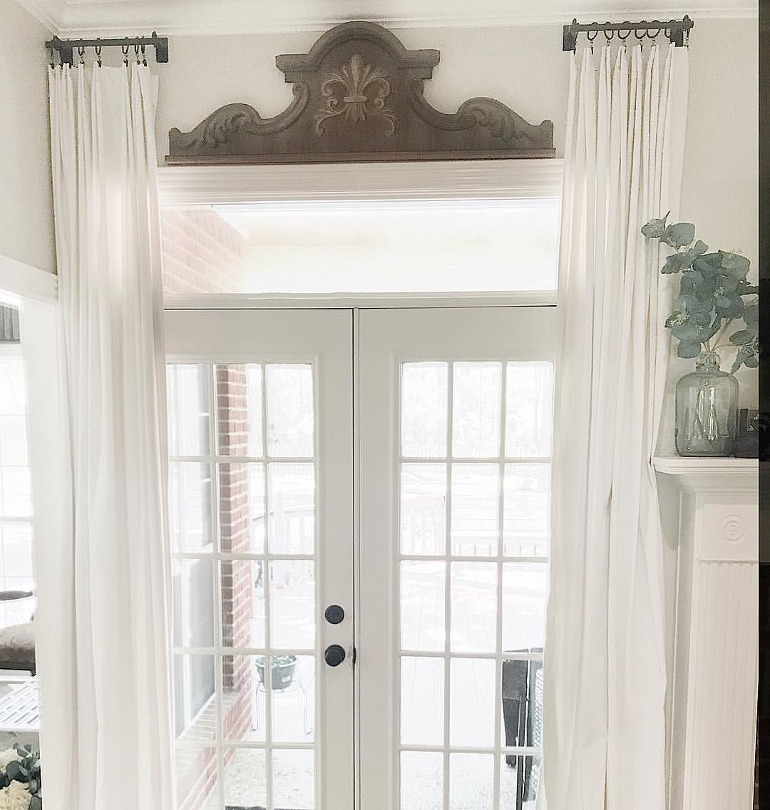 Diy Curtain Rods And Drop Cloth Curtains For French Doors Add A