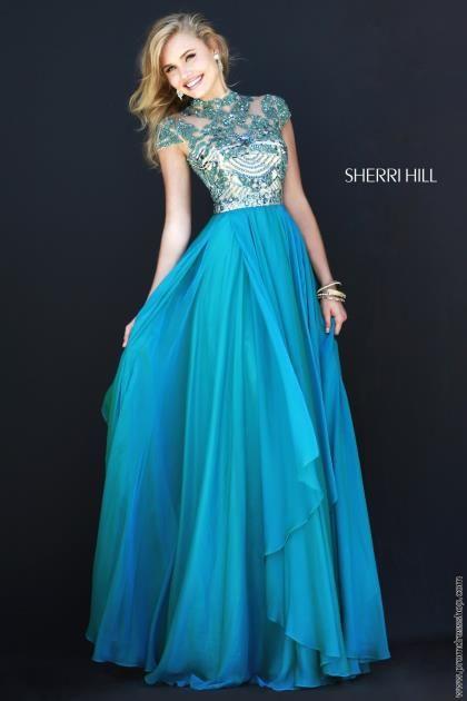 Sherri Hill Beaded Top Formal Dress 1933 2015 Plus Size Prom