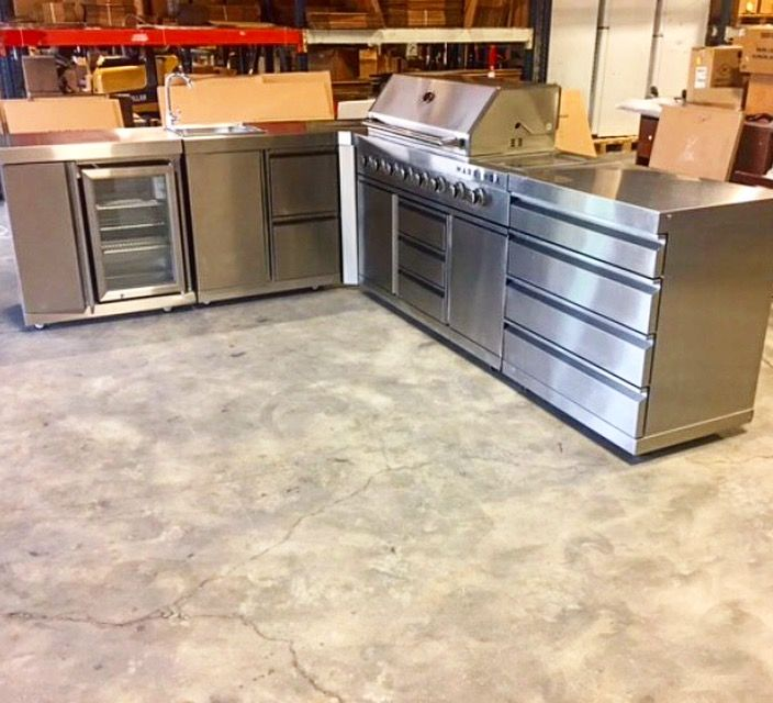 Stainless Steel Outdoor Kitchen System By Marrinox Outdoor