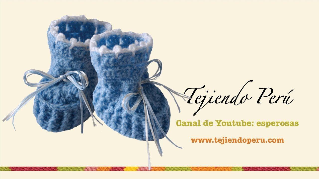 Zapatitos para bebé en crochet (Parte 1) | Baby dolls | Pinterest ...