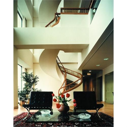 Freestanding Sculptural Spiral Staircase With White Oak Railing By Zepsa  Architectural Woodwork