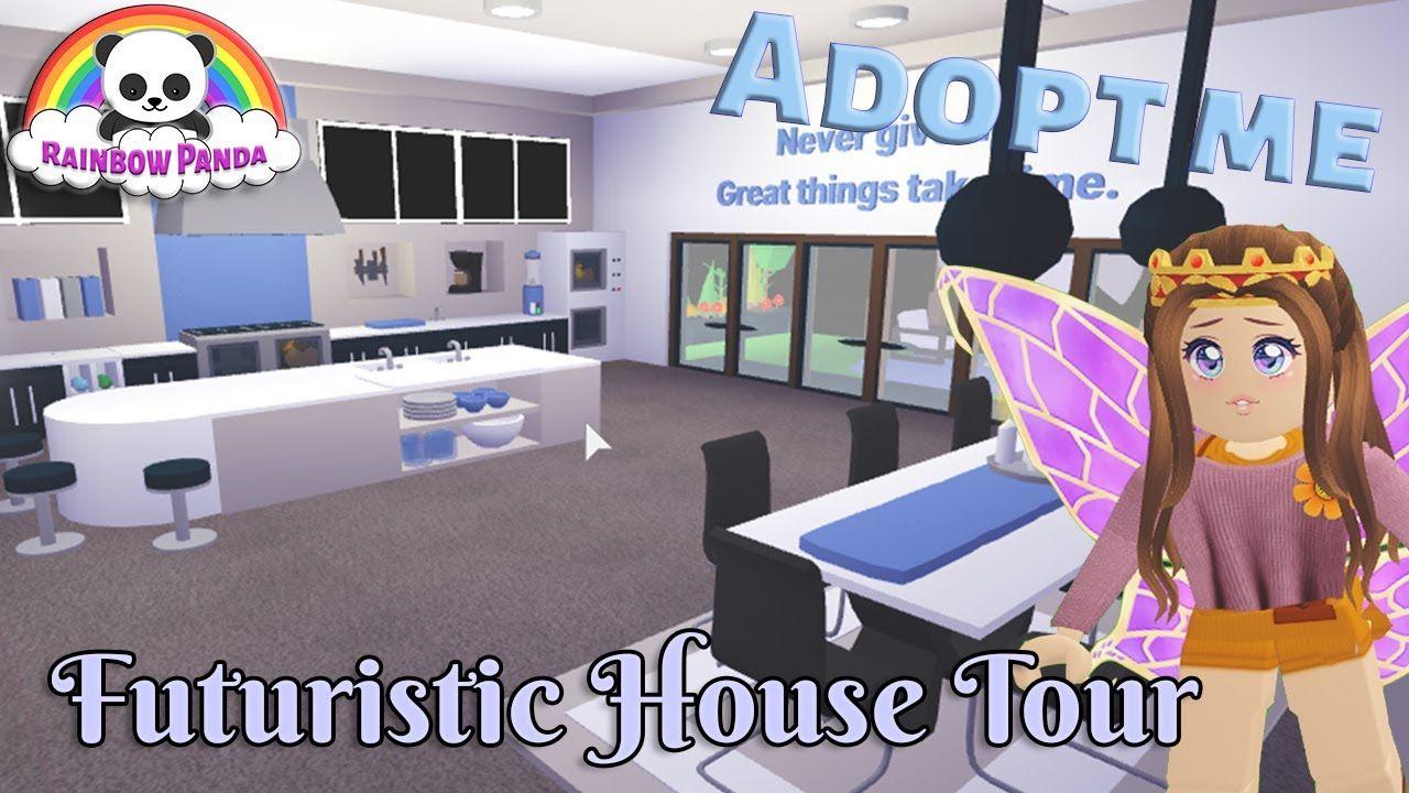 Adopt Me Aesthetic House Tour Futuristic House Youtube In 2020 Futuristic Home Cute Room Ideas Adoption