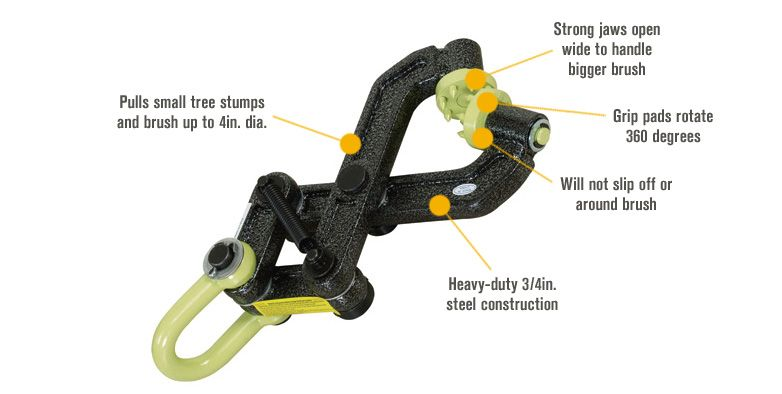 Brush Grubber BG-08 Heavy Duty small tree removal system by Brush Grubber