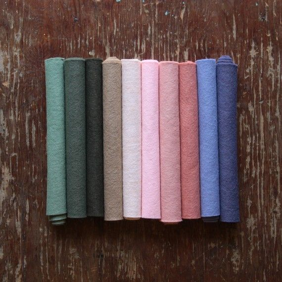 Desert Rose A Wool Felt Color Collection By Benzie By Benziedesign