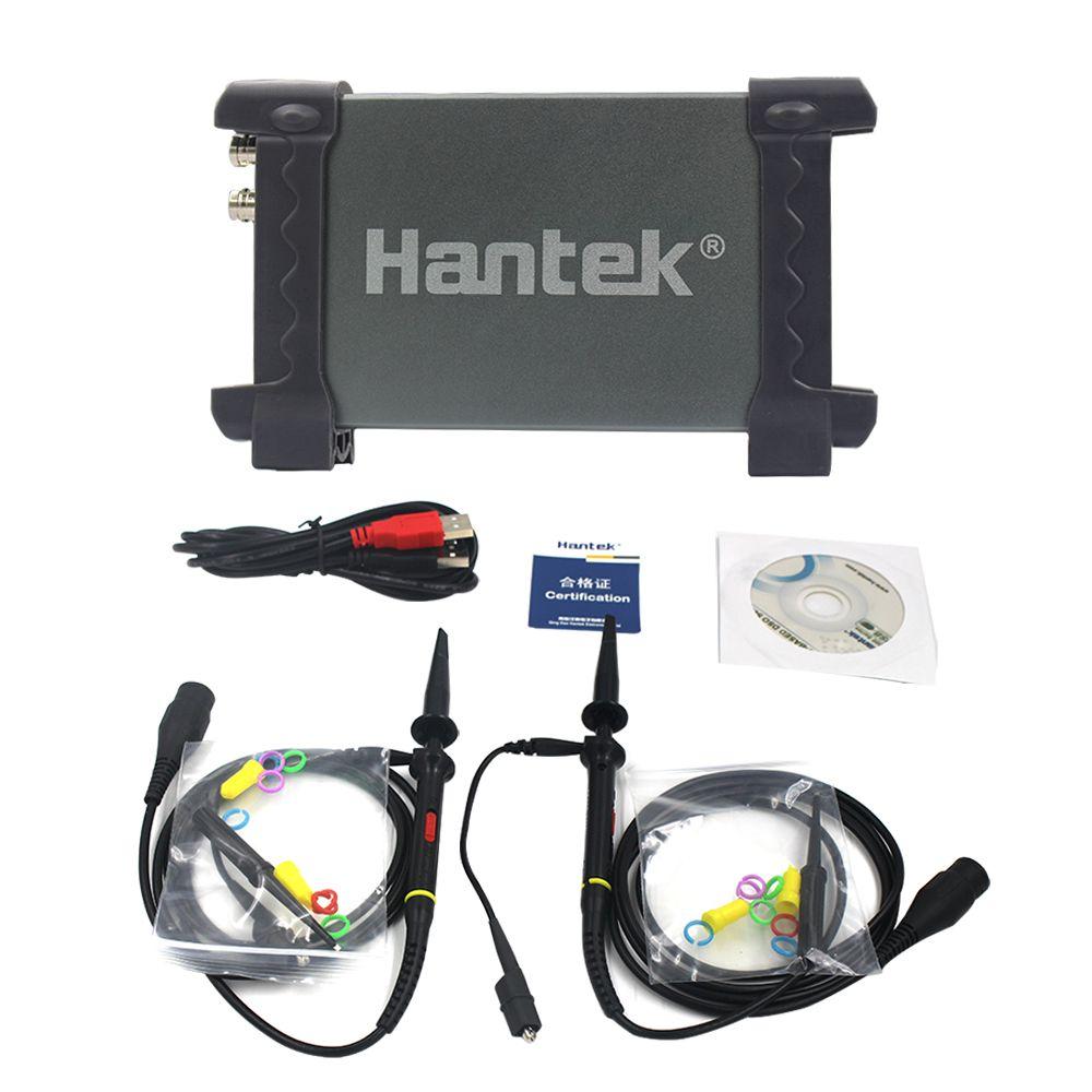 6022BE Hantek 6022BE USB Digital Storage Oscilloscope 2 CH 20MHz 48MSa//s Portable Oscilloscope