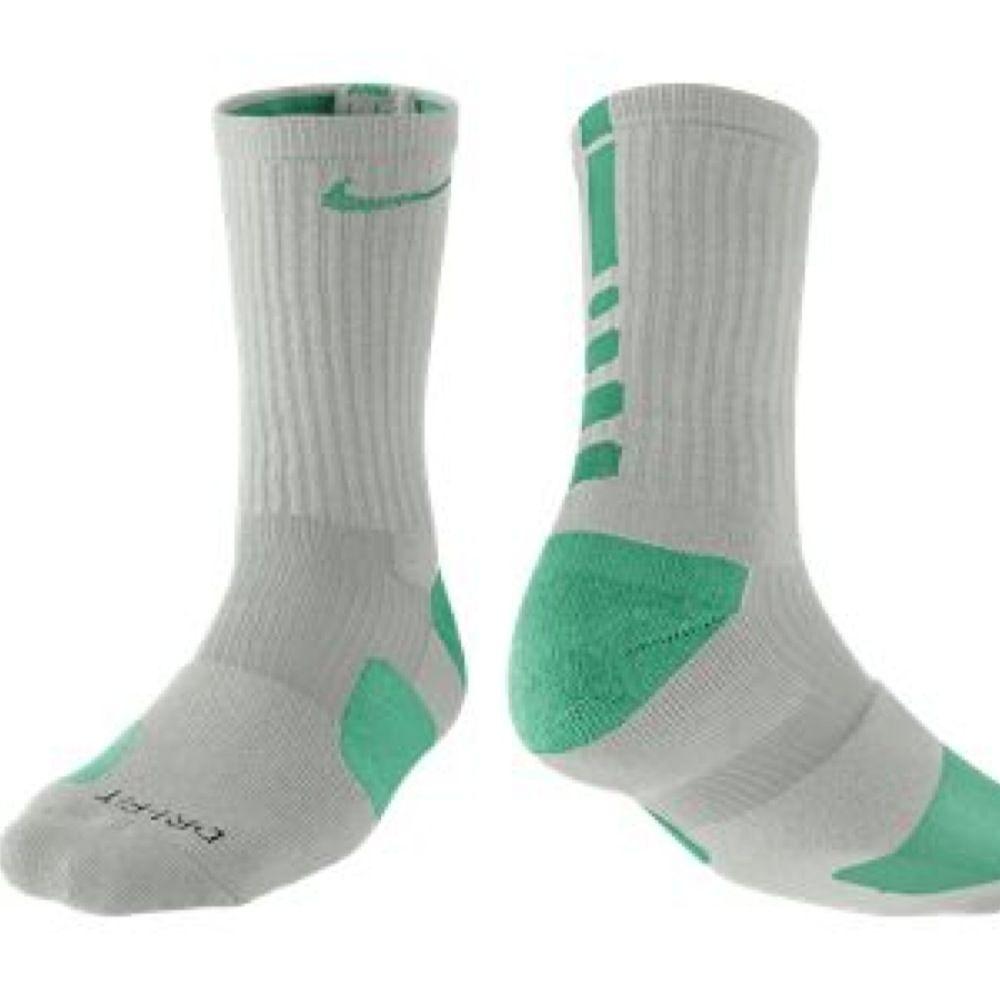 Nike Elite Mens Cushioned Crew Sock Dri-Fit Basketball Small, Grey Heather//Volt//Volt
