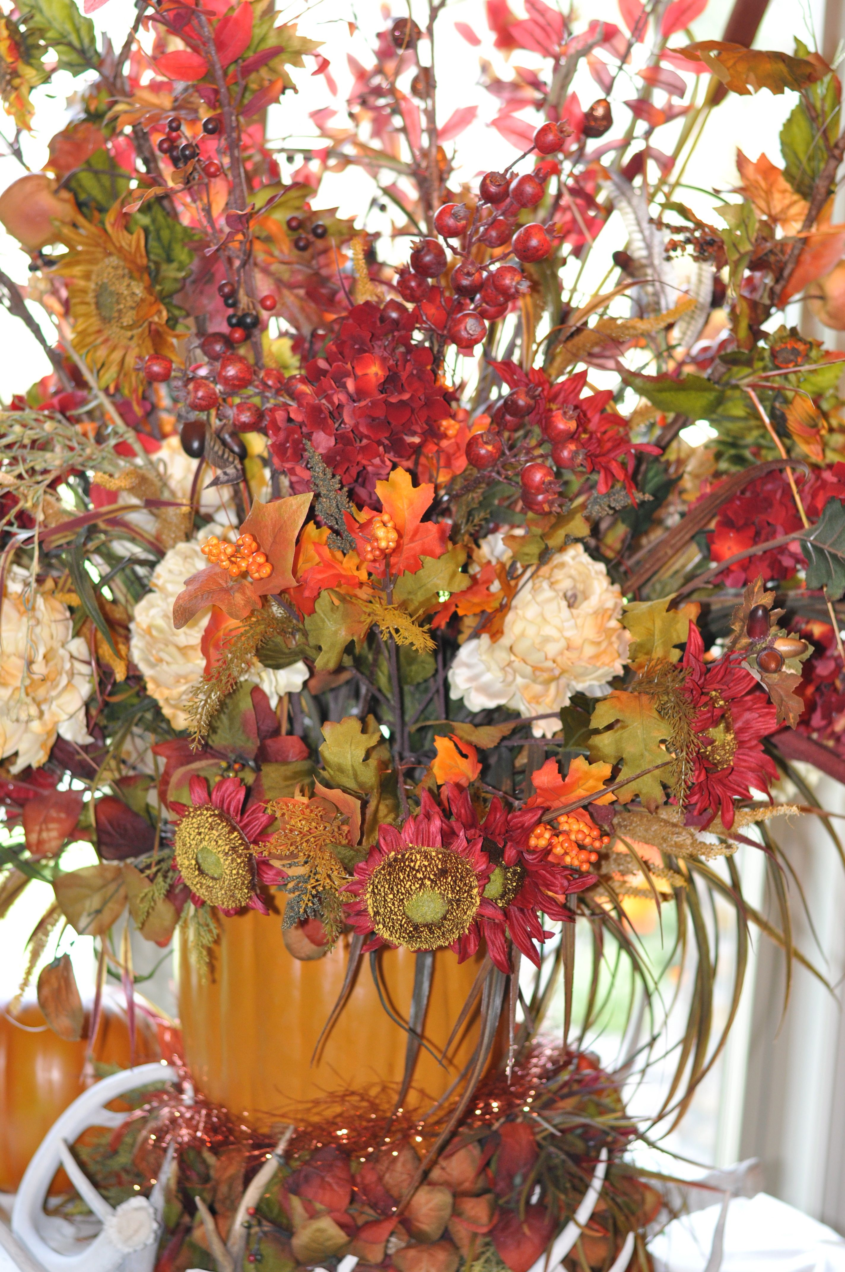 Fall Silk Floral Arrangements Fall Floral Arrangement Fall Pinterest Fall Floral