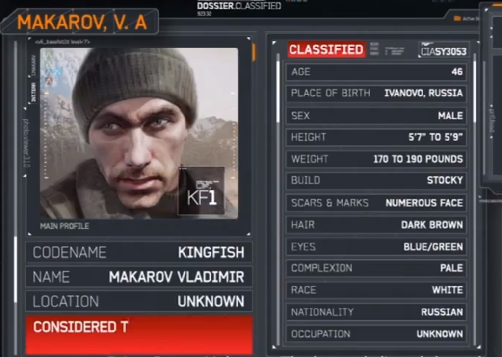 Vladimir Makarov 3 Call Of Duty Ghosts Green Name Call Of Duty