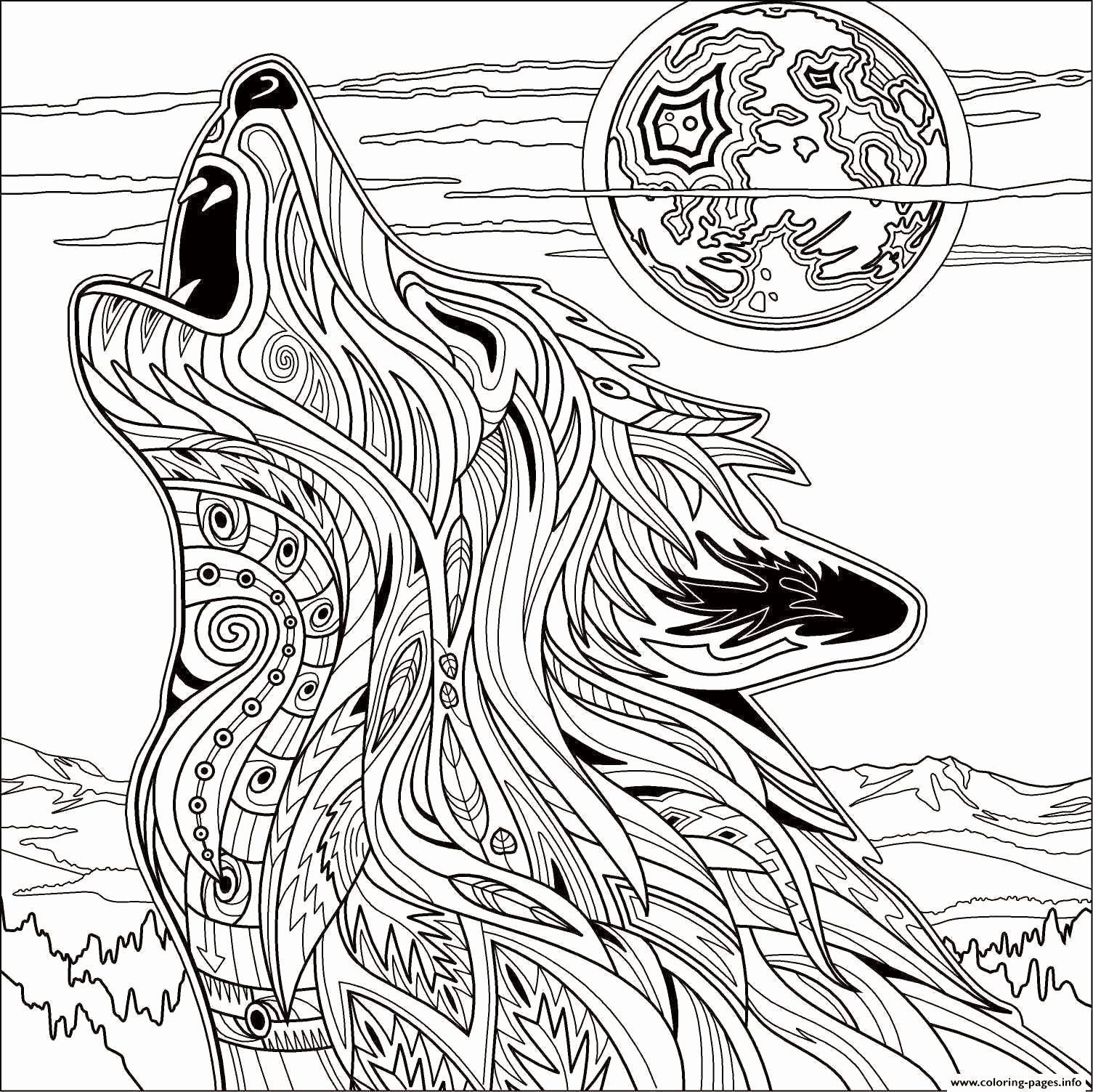 Animal Coloring Pages Hard Beautiful Coloring Pages For Adults Difficult Animals Animal Coloring Pages Wolf Colors Mandala Coloring Pages