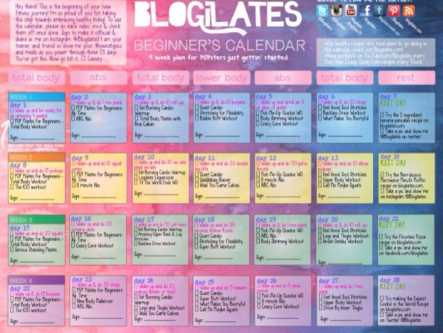 Blogilates workout plan Time to get fit Pinterest Blogilates